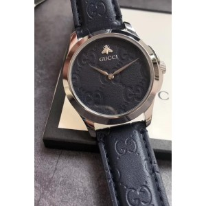 Gucci, Unisex Watch, GG Leather Black