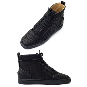 Christian Louboutin, Women's High Top Sneaker, Black