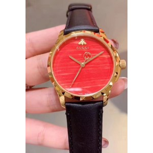 Gucci, Women's Watch, Black-Red