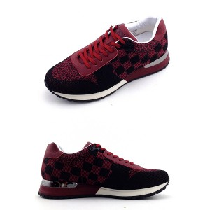 Louis Vuitton, Heren Sneakers, Rood Checkered