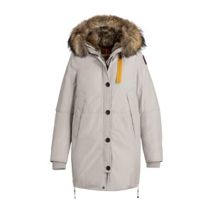 Parajumpers, Women's Jacket, Fur Collar, Creme