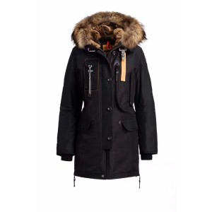Parajumpers, Women's Jacket, Fur Collar, Black