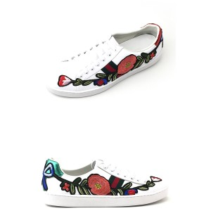 Gucci, Heren Sneakers, Wit Flowers