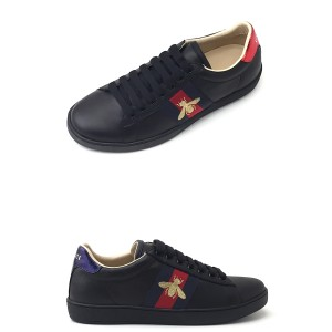 Gucci, Heren Sneakers, Zwart Bee