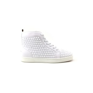 Christian Louboutin, Dames Sneakers, Wit High Top