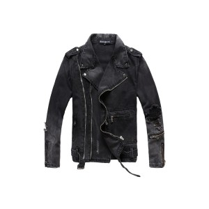 Balmain, Men's Jean Jacket, Black