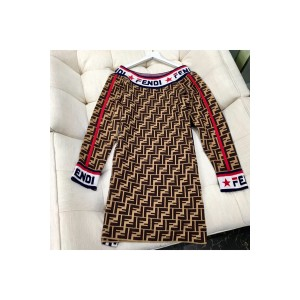 Fendi, Women's Dress, Brown